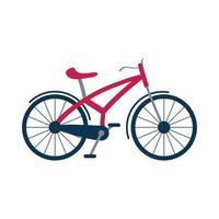 ícone isolado de veículo de bicicleta retrô vetor