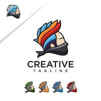 personagem ninja desenho animado estilo vetor grátis