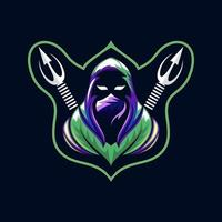 vetor ninja mascote grátis