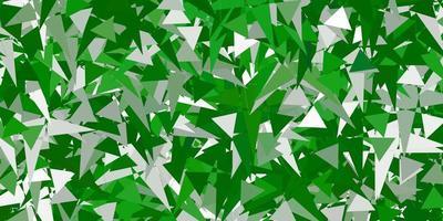 modelo de vetor verde claro com formas de triângulo