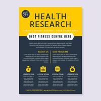 Vetores de Flyer de estilo de vida de saúde excepcional