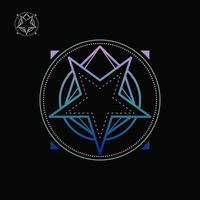 vetor livre de pentagrama