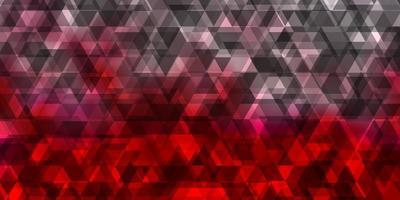 fundo de vetor vermelho claro com linhas triângulos