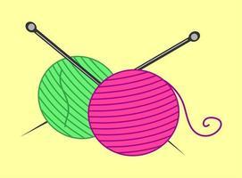 artigos artesanais de tricô vetor