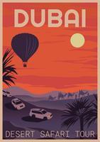 Tour do Safari em Dubai vetor