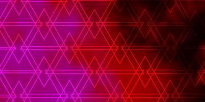 modelo de vetor rosa roxo escuro com triângulos de cristais