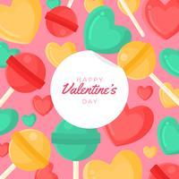 Fundo de corações de doces dos namorados vetor