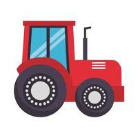 desenho de vetor de trator de fazenda isolado