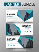 pacote de modelo de banner de negócios corporativos azul, vetor
