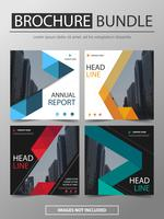 Relatório anual folheto folheto folheto modelo de design vetor