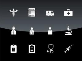 desenho vetorial de ícone de hospital vetor