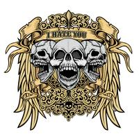 brasão do crânio do grunge