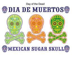 crânio de açúcar mexicano vetor