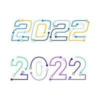 Ilustração em vetor ícone ano novo 2022