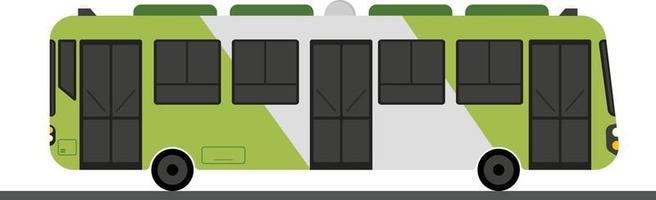 vetor de design de ônibus plana verde com conceito de carro isolatd white.modern public bus.travel