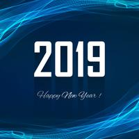 Feliz ano novo 2019 colorido fundo de celebração vetor