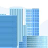 ilustração em vetor moderno edifício azul. Torre com fundo do céu