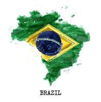 projeto da pintura em aquarela da bandeira do Brasil. forma do mapa do país. conceito do dia da independência 7 de setembro de 1822. vetor. vetor
