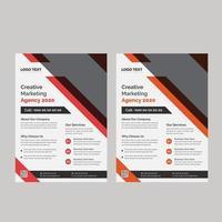 modelo de folheto de agência criativa digital vetor