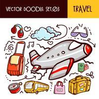 Ícone de viagens doodles vetor