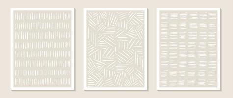 modelos contemporâneos com formas abstratas e linha em cores nude. vetor