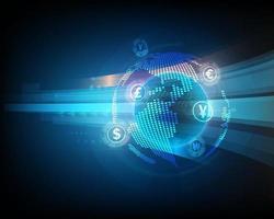 conceito de rede de remessa de câmbio global vetor