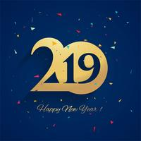 Fundo de celebração lindo ano novo 2019 vetor
