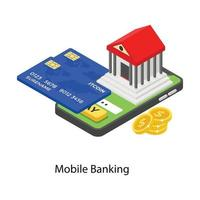 conceitos de banco online vetor