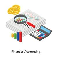 contabilidade e dados financeiros vetor
