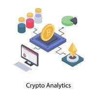 análise de dados criptográficos vetor