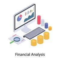 análise de dados financeiros vetor