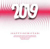 2019 feliz ano novo fundo design criativo vector
