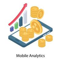 análise e crescimento para celular vetor