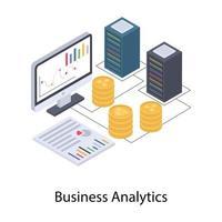 conceitos de analítica de negócios vetor