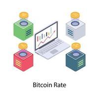 conceitos de taxa de bitcoin vetor