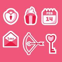 Pacote de vetores de elementos do dia dos namorados