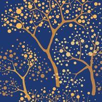 árvore do jardim com fundo de folhas. padrão sem emenda de ramos florais em estilo oriental. textura da telha da planta. floresta sem costura de fundo. vetor