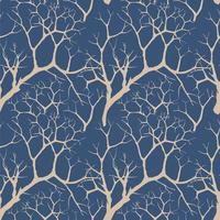 árvore do jardim sem fundo de folhas. padrão sem emenda de ramos florais em estilo oriental. textura da telha da planta. fundo sem emenda da floresta de inverno. vetor