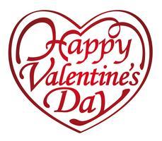 Dia dos namorados em forma de coração logo / ícone.