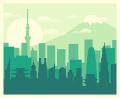 Ilustração de Tóquio vetor