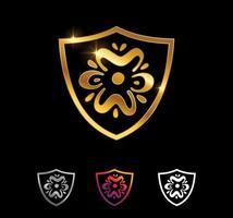 sinal vector escudo dourado