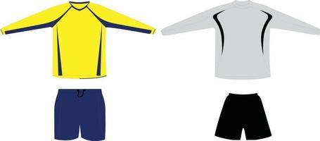 uniforme de goleiro vetor