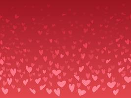 Fundo sem emenda do dia dos namorados com padrão de forma de coração. vetor