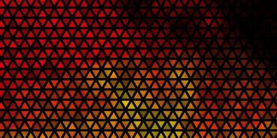 padrão de vetor laranja escuro com estilo poligonal