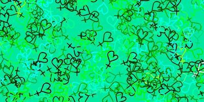 textura vector azul, verde claro com símbolos dos direitos das mulheres.