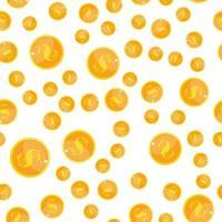 ouro moeda de dólar dinheiro sem costura padrão fundo ilustração vetorial. eps10 vetor