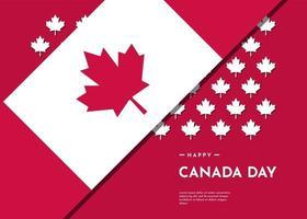 fundo de celebração do dia do Canadá com design de folha de bordo vetor