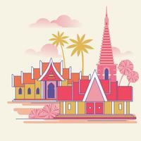 Templo de Banguecoque Tailândia vetor