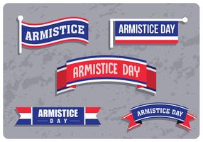 Bandeiras do dia do armistício vetor