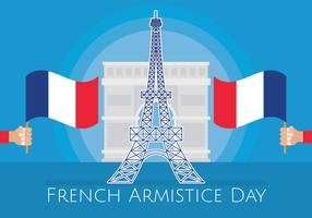 Ilustração do dia do armistício francês vetor